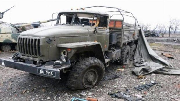 Под Донецком уничтожена колонна ВС РФ
