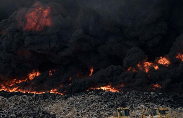 Пожежа в Кувейті, скріншот з відео