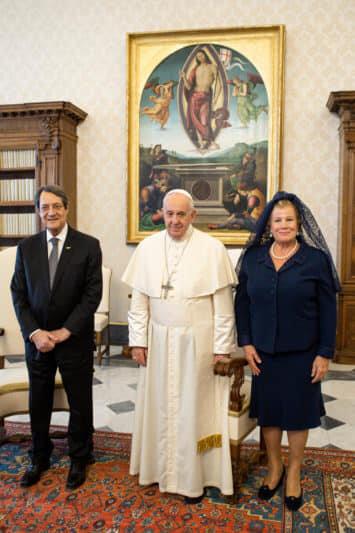 Президентське подружжя Кіпру у Ватикані