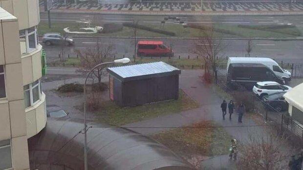 У Києві встановили черговий МАФ, фото: скріншот публікації