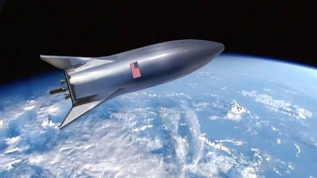Маск вперше показав космічну ретро-ракету Starship