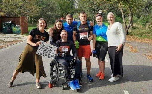 """Ветеран АТО со Львовщины одолел забег Лондонского марафона на коляске - """"Не каждый на такое решится"""""""