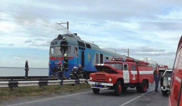 Під Черкасами загорівся поїзд із сотнею пасажирів