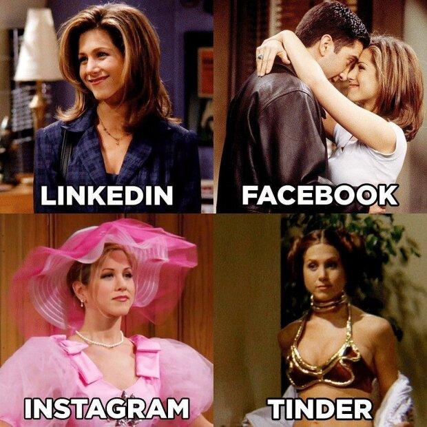 Instagram пафосний, а Tinder – розпусний: зірки запустили крутий флешмоб у соцмережах