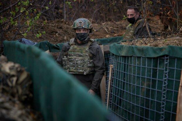 Владимир Зеленский на Донбассе, фото: ОПУ