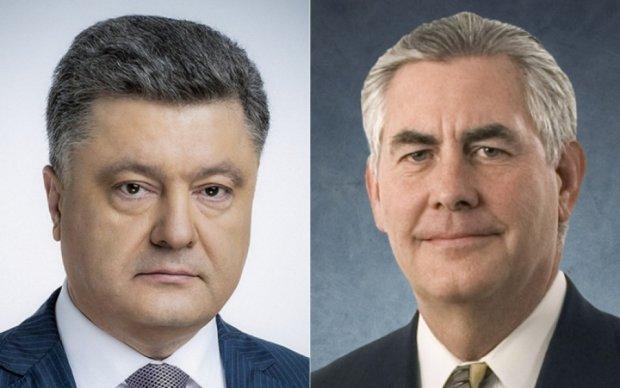 Порошенко обсудил с Тиллерсоном миротворцев на Донбассе