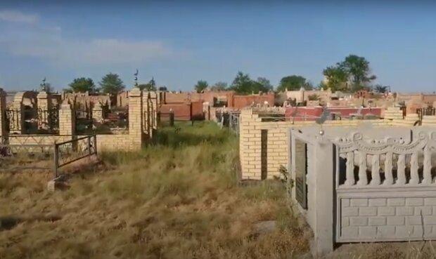 кладовище, скріншот з відео