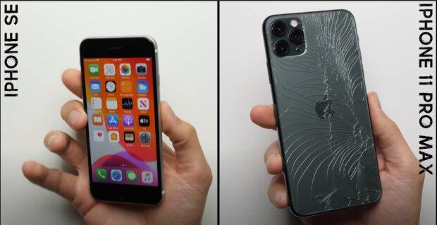iPhone SE, скріншот відео