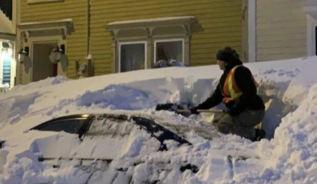 Снігопади в Канаді, скріншот: YouTube