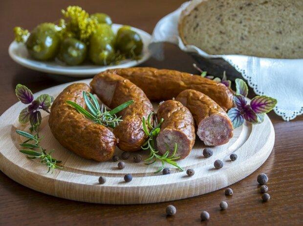 Домашняя колбаса, фото: Pxhere