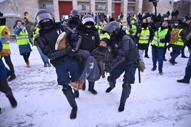 Протесты в РФ, фото: Telegram