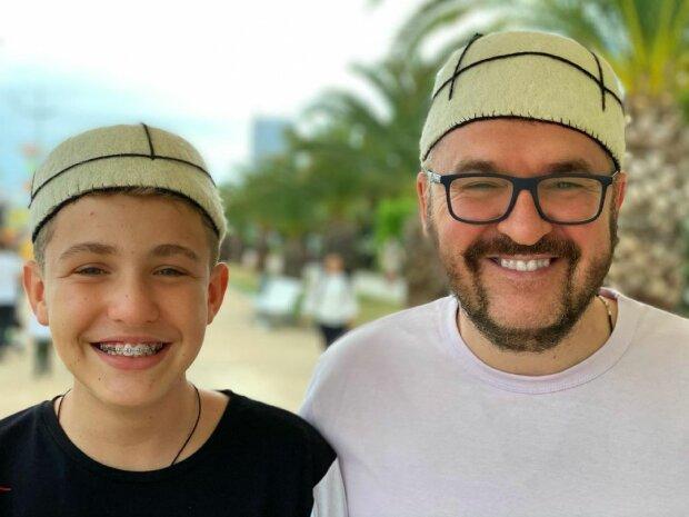 Александр Пономарев с сыном, фото с Instagram