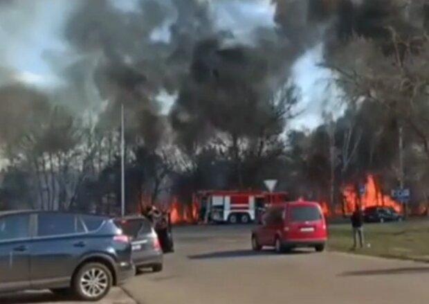 пожежа в Києві, скрін з відео