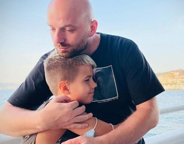 Слава Демин с сыном, фото из instagram