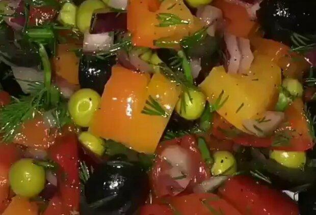 Салат, кадр из видео