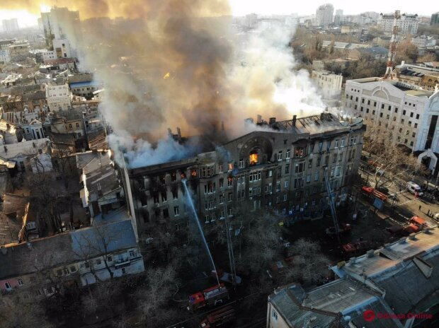 пожар в Одессе, Odessa.online