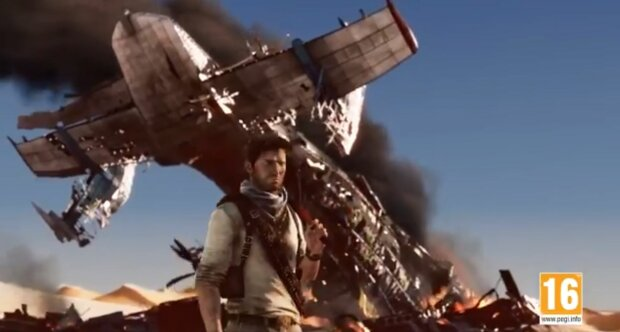Uncharted 4 \\ кадр из игры