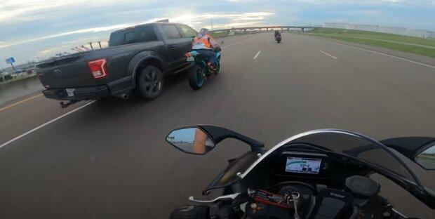 ДТП з мотоциклістом, скріншот