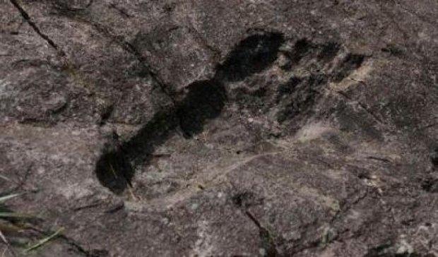 Фотографы обнаружили следы древнего великана (ФОТО)