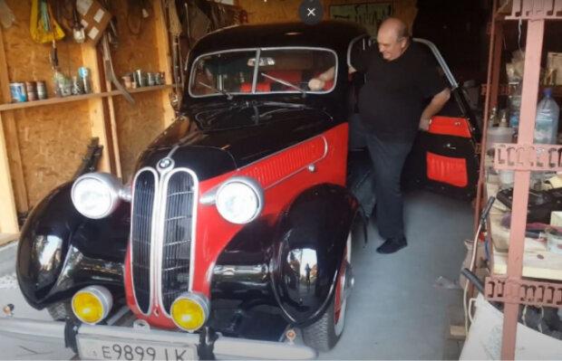 Закарпатец 30 лет реставрировал BMW, скриншот видео