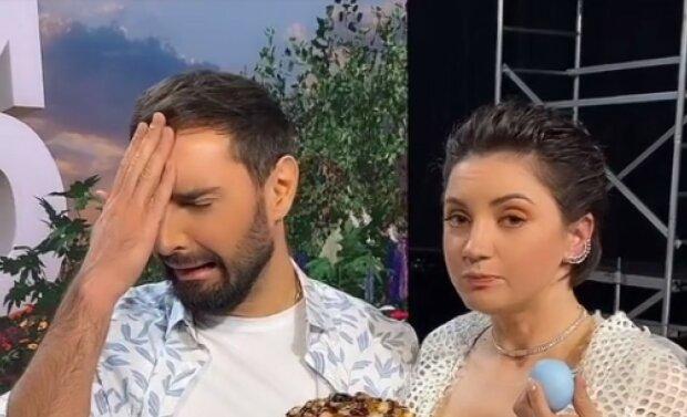 Цибульская и Козловский, скриншот из видео