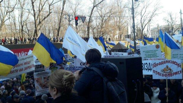 Мітинг на Банковій, фото: Знай.uа