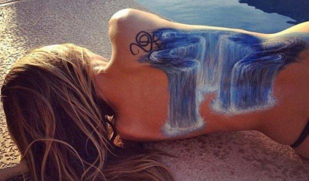 Американка рисует оптические иллюзии на теле (фото)