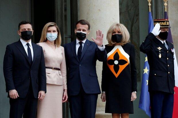 Володимир і Олена Зеленські в Парижі, фото Reuters
