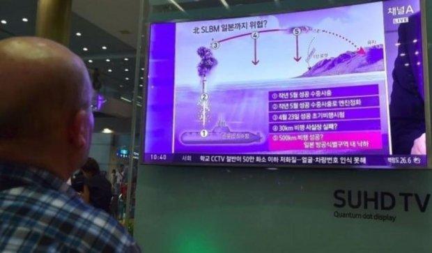 Военные Северной Кореи утопили ракету в Японском море