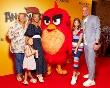 Євген Кошовий з родиною