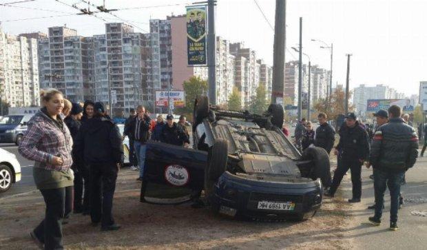 На столичной Троещине произошла ужасная авария (фото)