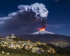 почалося нове виверження вулкану Етна