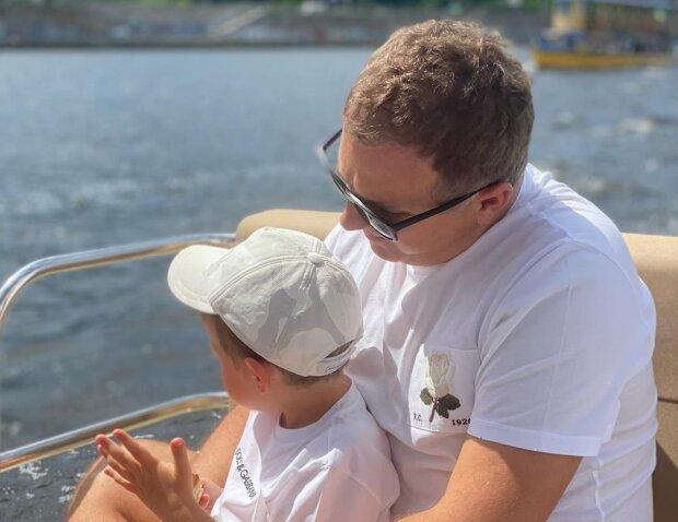 Юрій Горбунов з сином, фото з Instagram
