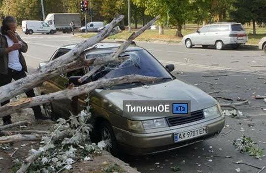 Ураган превратил Харьков в город раздавленных машин