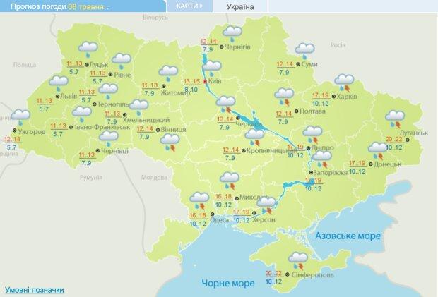 Погода в Україні 8 травня, фото: Укргідрометцентр