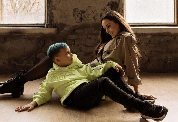 Ксенія Мішина з сином, фото з Instagram