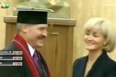 Студенты украинского КНУ отбирают у Лукашенко звание