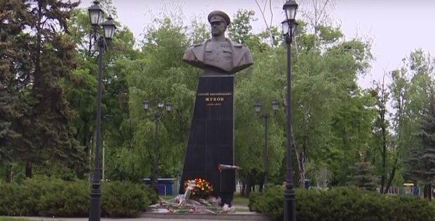пам'ятник Жукову в Харкові, скріншот з відео