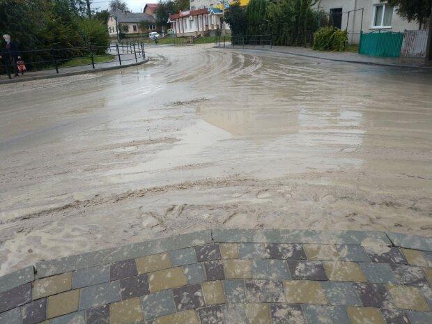 """На Тернопільщині показали дорогу, розмиту дощем: """"Новий асфальт приплив"""""""