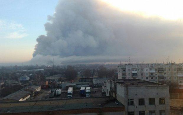 Опубликовано впечатляющее видео охваченной дымом Балаклеи