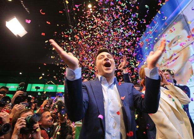 Владимир Зеленский после победы на выборах, фото из свободных источников