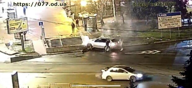 Авария в Одессе, фото: скриншот из видео