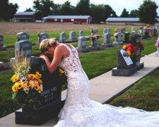 Невеста на кладбище, фото - La Vanguardia Norte