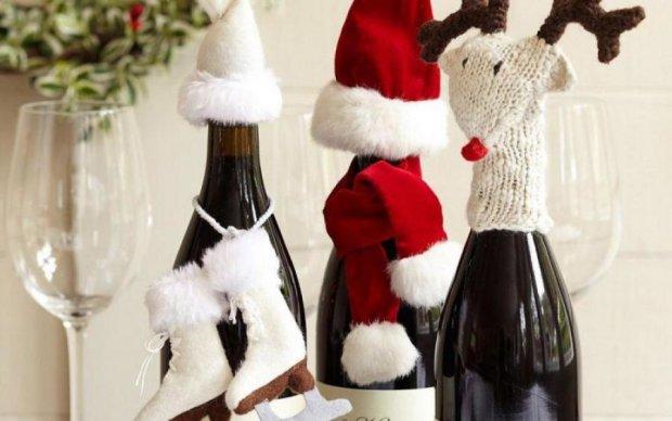 Лайфхак на Новий рік: три способи прикрасити пляшку шампанського