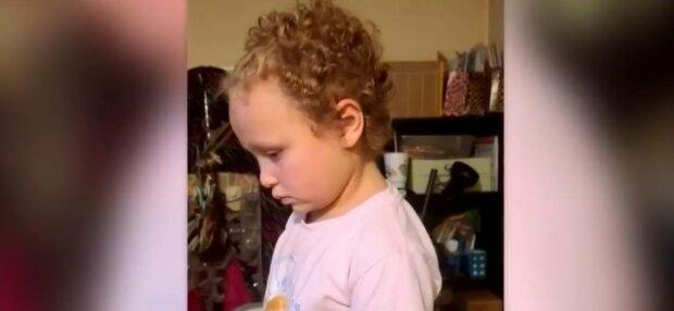 Семирічна дівчинка, фото: скріншот з відео