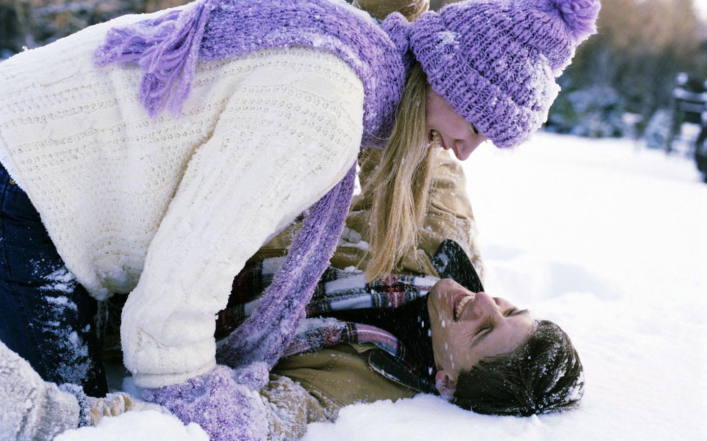 вас с любимым на снегу фото него