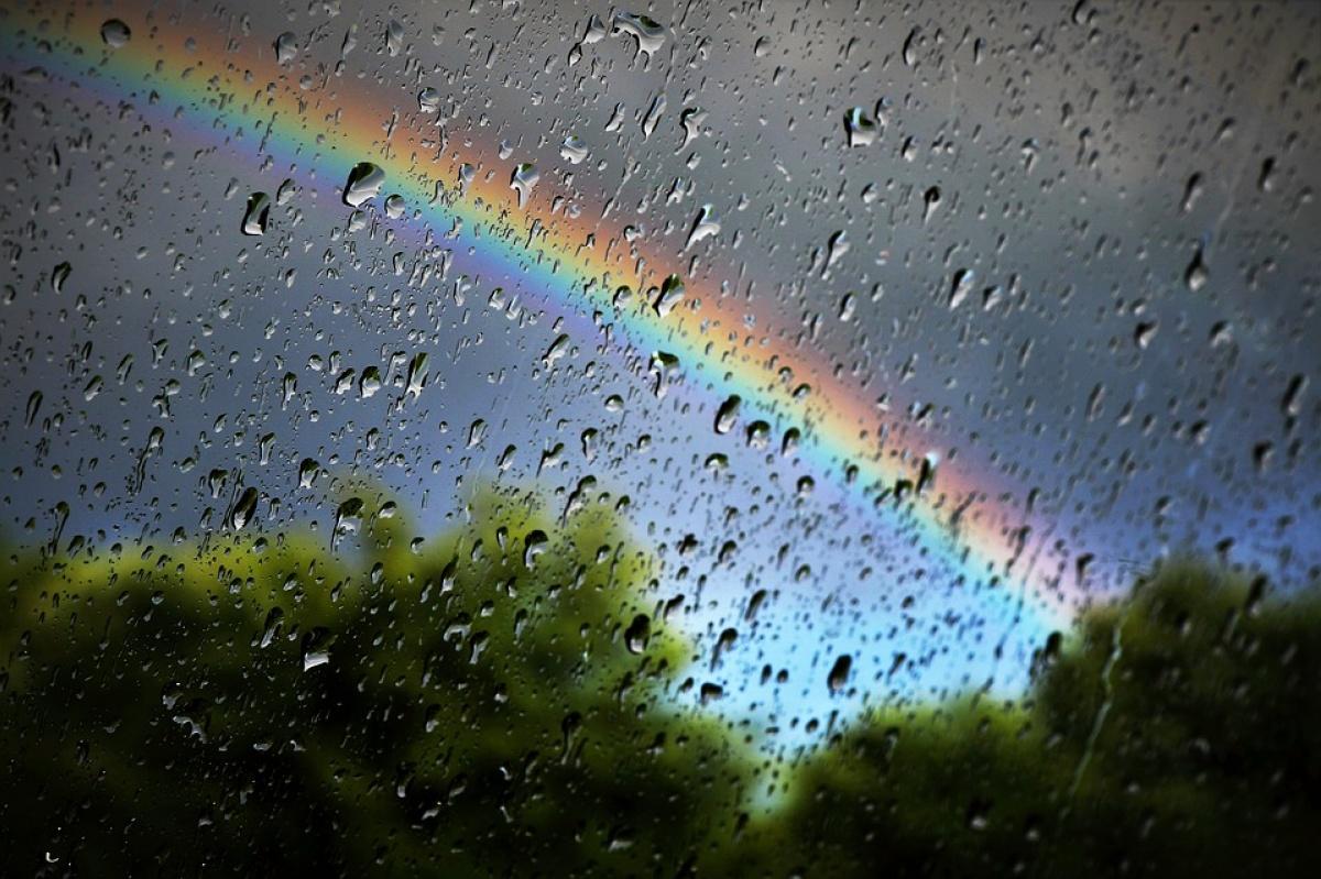 Днем, картинки лето дождь и радуга