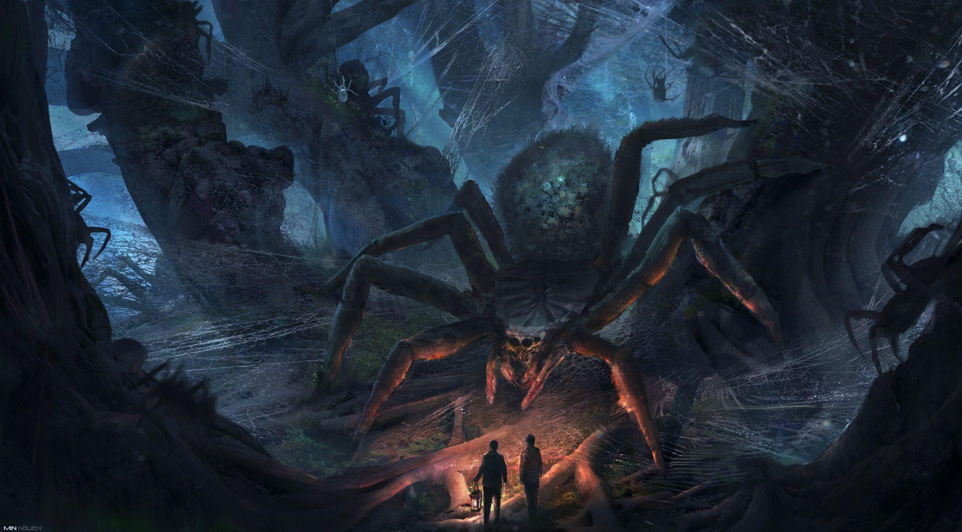 картинки зловещие пауки жарком