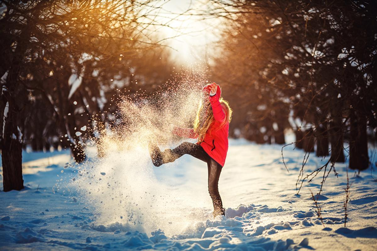 картинка зима снег человек пейдж